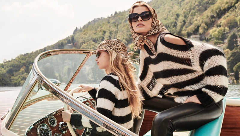 Edita Vilkeviciute is a fashionable mom in Twinset fall-winter 2019 cmapaign