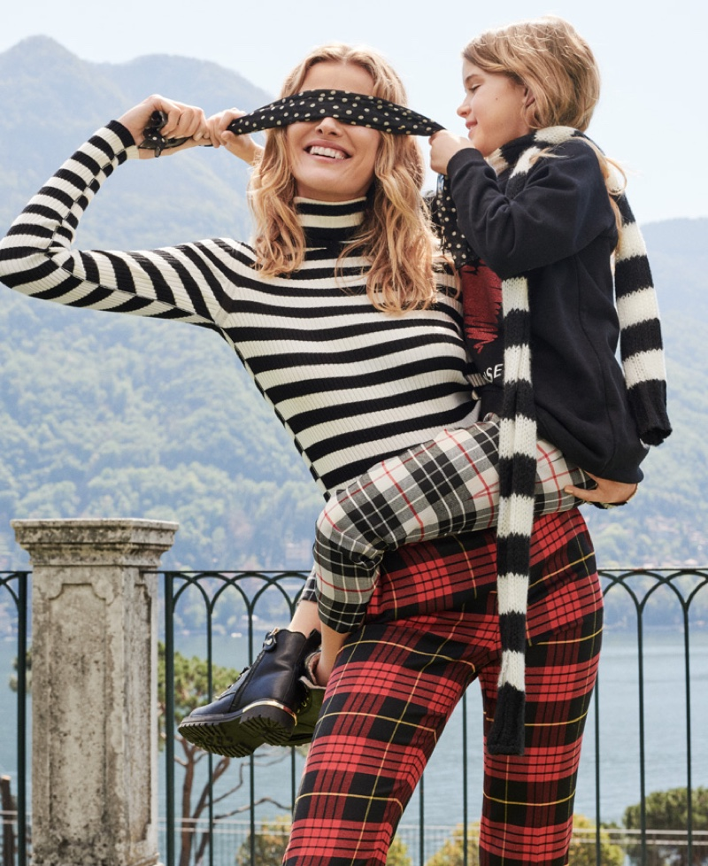 Stripes and plaid stand out for Twinset fall-winter 2019 campaign