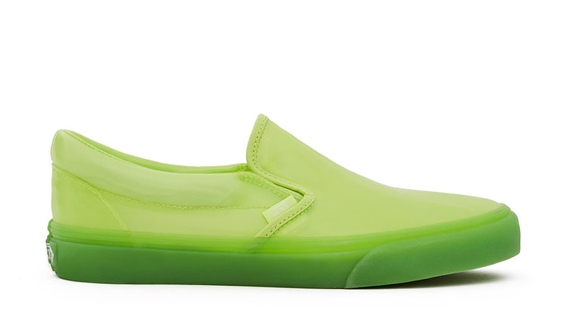 Vans x OC Transparent Classic Slip-On Sneaker in Sharp Green $70