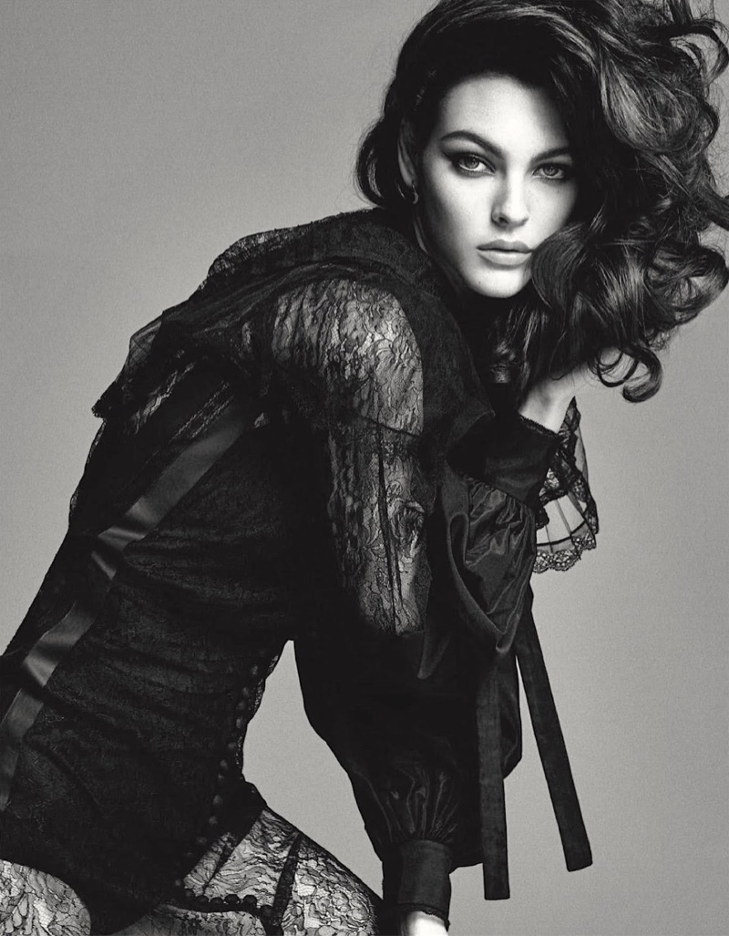 Vittoria Ceretti Poses in Super Glam Styles for Vogue Japan