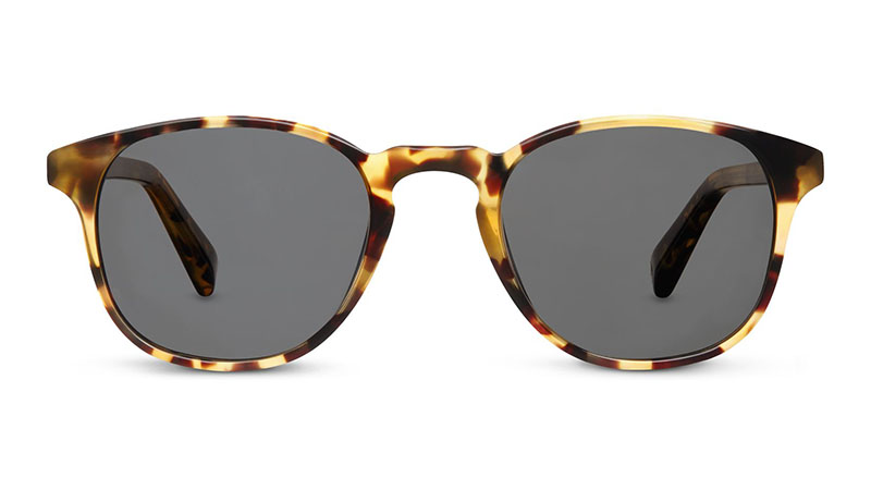 Warby Parker Downing Sunglasses in Walnut Tortoise with Classic Grey Lenses $95