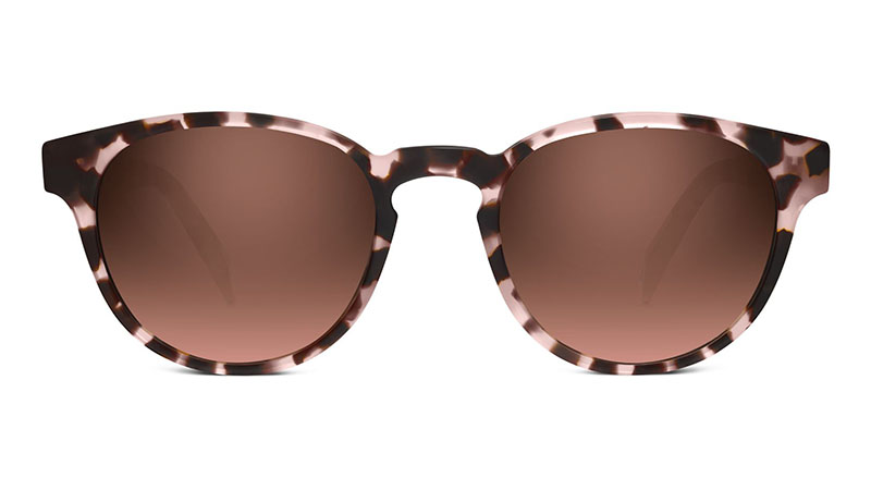 Warby Parker Percey Sunglasses in Petal Tortoise with Flash Reflective Brown Gradient Lenses $95