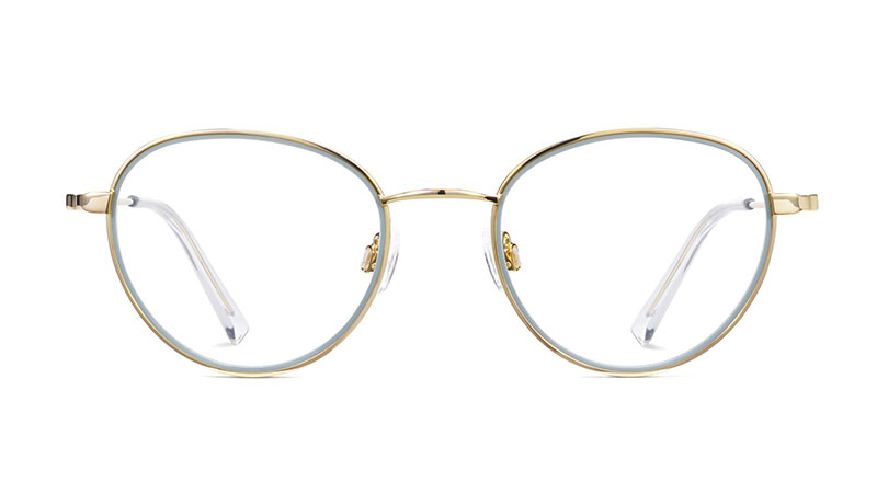 Warby Parker Walsh Glasses in Olive Leaf with Polished Gold $145