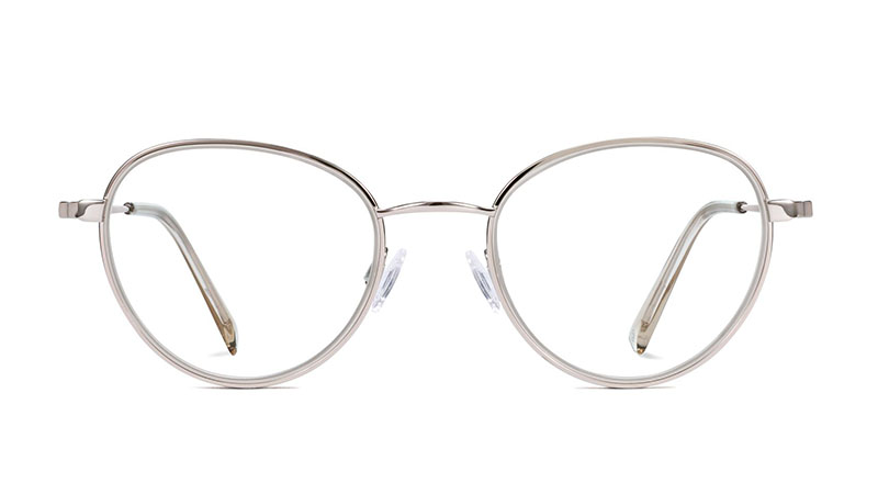 Warby Parker Walsh Glasses in Seashell Lilac with Silver $145