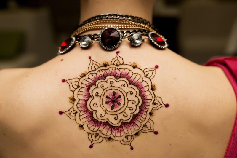 Woman Mandala Tattoo Back Jewelry