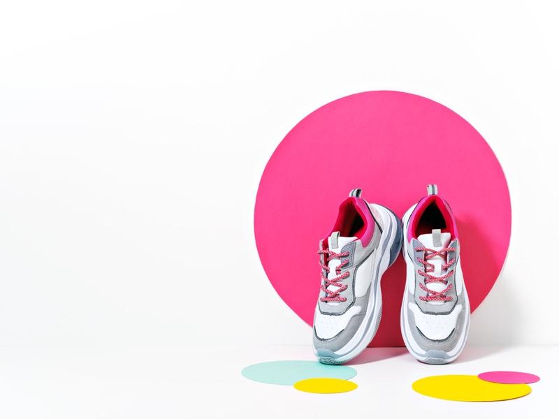 Womens Chunky Sneakers Circle