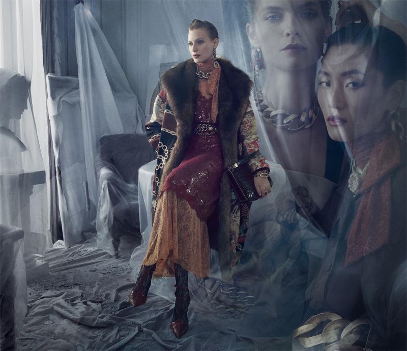 Julia Nobis stars in Zara fall-winter 2019 campaign