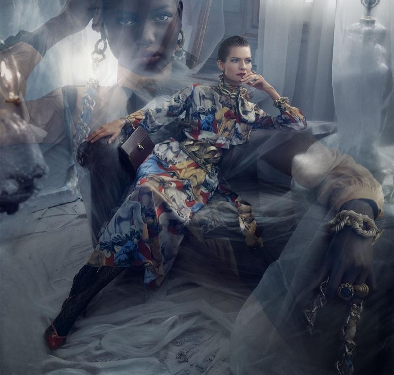Karolin Wolter fronts Zara fall-winter 2019 campaign