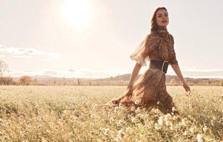 Birgit Kos stars in Zimmermann fall 2019 campaign