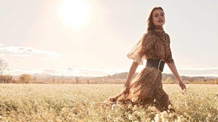 Birgit Kos stars in Zimmermann fall 2019 campaign