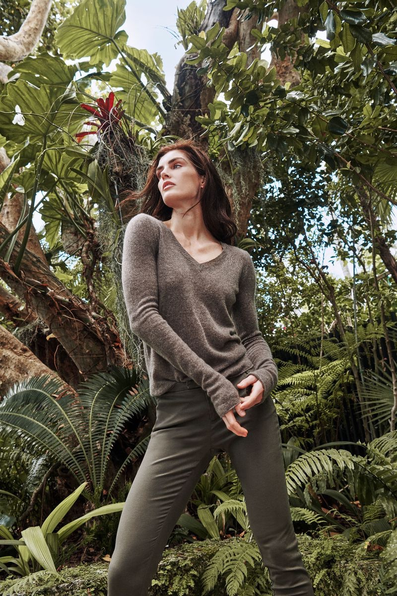 Hilary Rhoda wears neutral styles for ATM fall-winter 2019 campaign