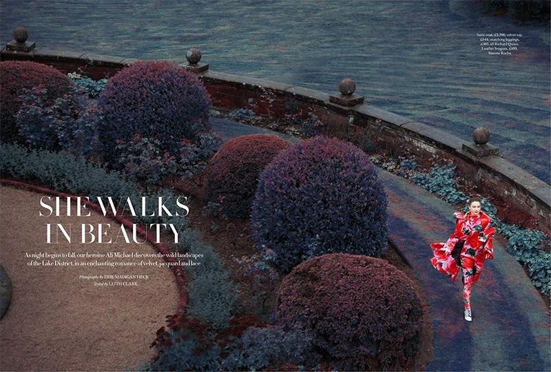 Ali Michael Poses in Enchanting Looks for Harper's Bazaar UK