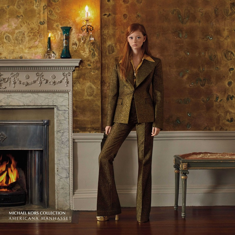 Sara Grace Wallerstedt suits up in Americana Manhasset fall-winter 2019 campaign