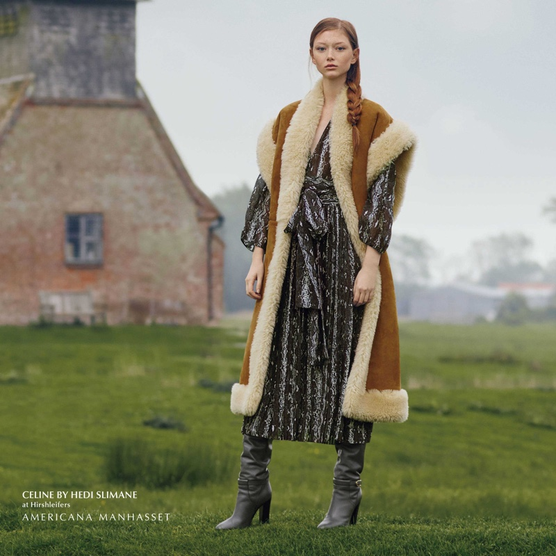 Sara Grace Wallerstedt  layers up in Celine for Americana Manhasset fall-winter 2019 campaign