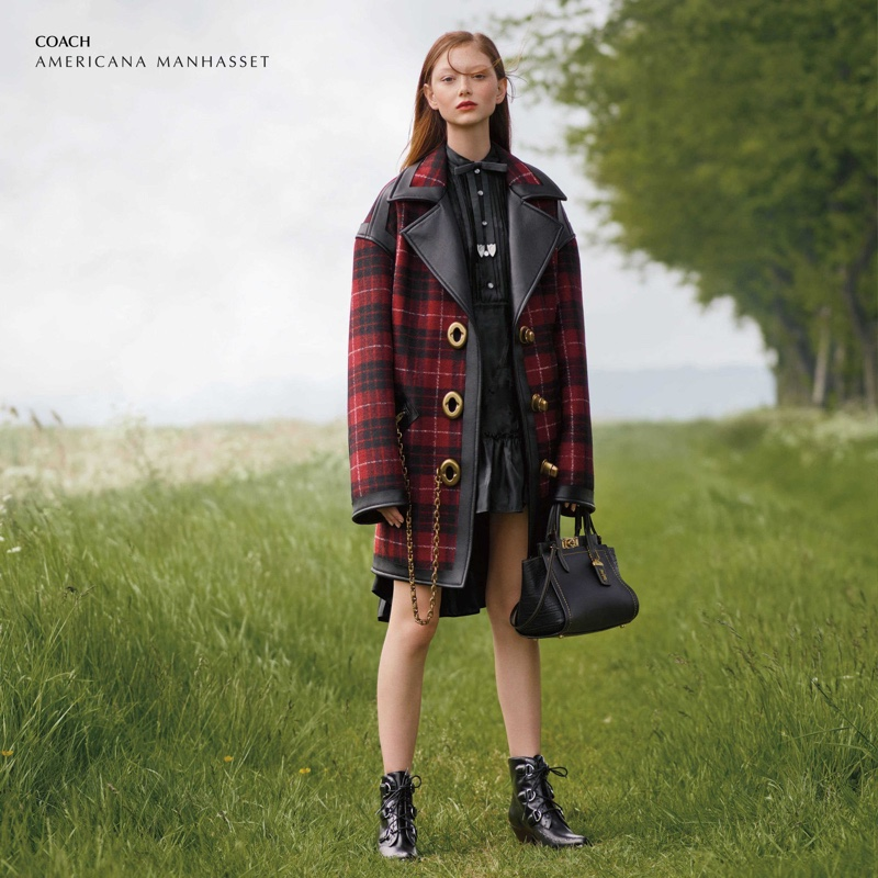 Sara Grace Wallerstedt models Coach for Americana Manhasset fall 2019 campaign
