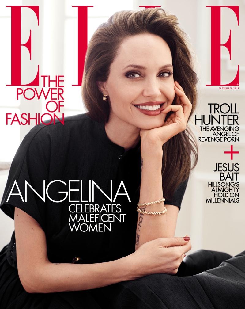 Angelina Jolie on ELLE US September 2019 Cover
