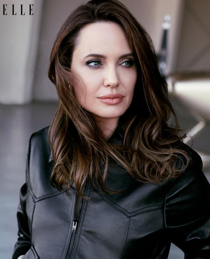 Angelina Jolie Tattoos 2019: Angelina Jolie ELLE US 2019 Cover Photoshoot