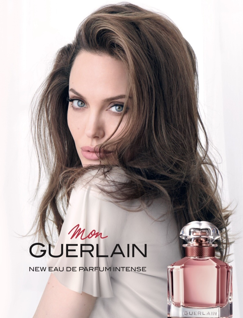 Actress Angelina Jolie fronts Mon Guerlain Intense fragrance campaign
