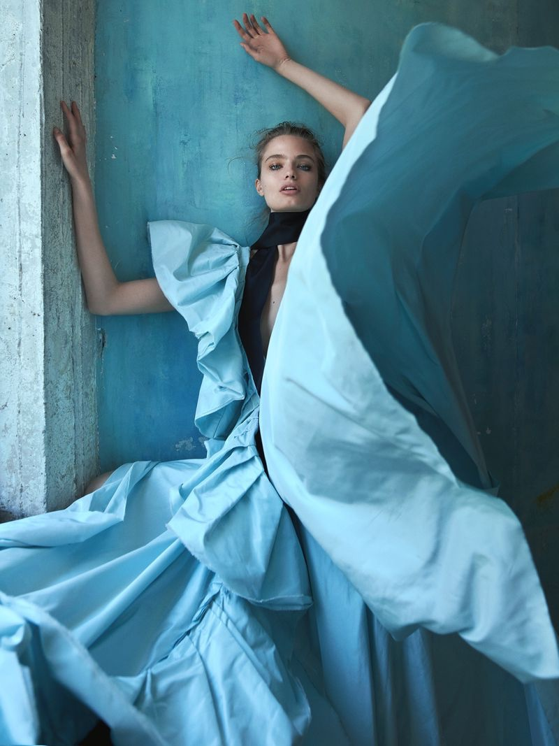 Anna Mila Guyenz Models the Dreamiest Dresses for Vogue Taiwan