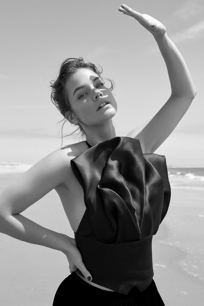 Barbara Palvin Looks Gorgeous in Giorgio Armani for Io Donna