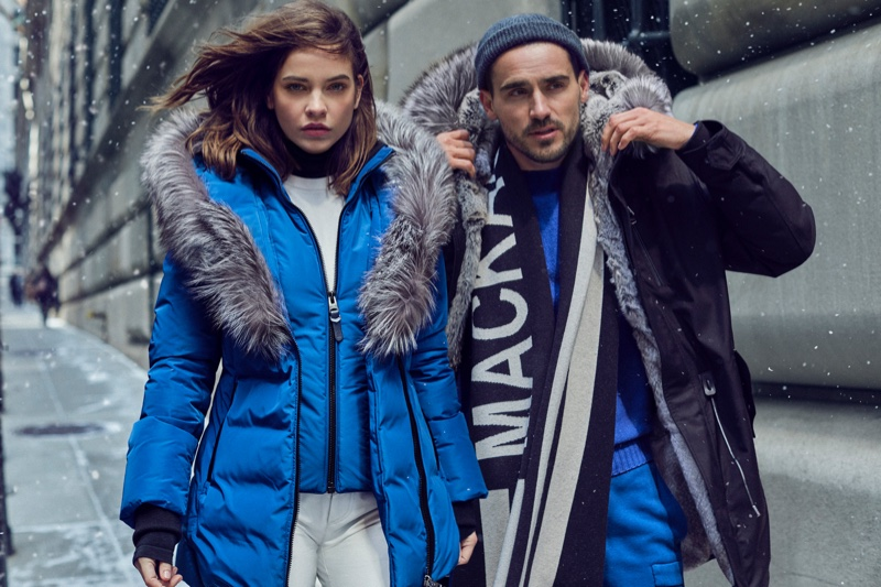 Barbara Palvin and Arthur Kulkov pose for Mackage fall-winter 2019 campaign
