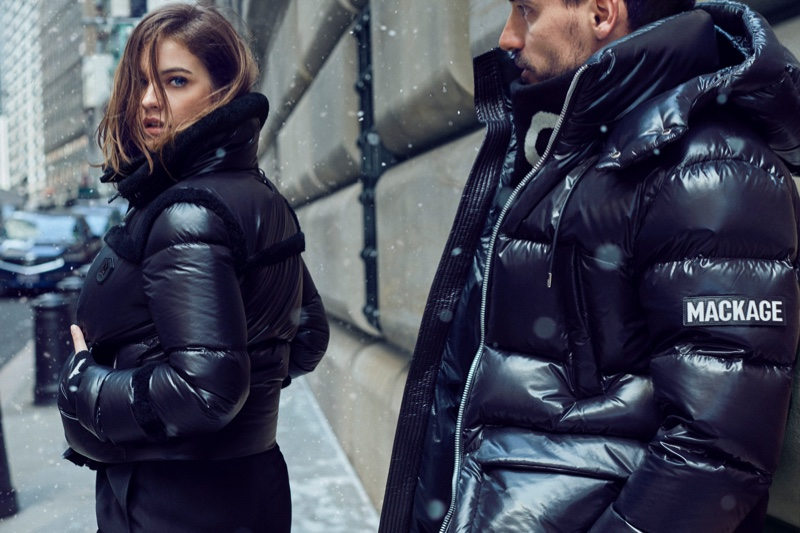 An image from the Mackage fall 2019 advertising campaign