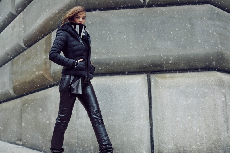 Barbara Palvin takes a stroll in Mackage fall-winter 2019 campaign