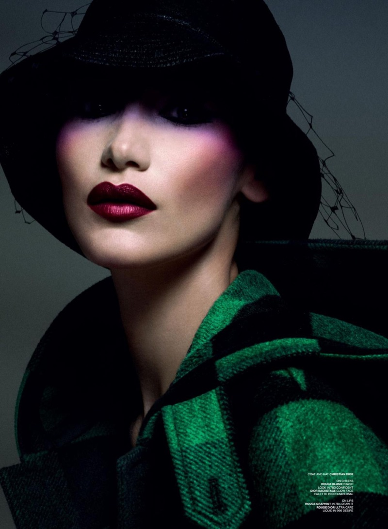 Bella Hadid Models Bold Beauty for V Magazine