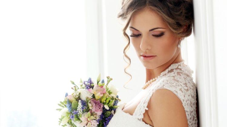 Bride Bouquet Lace White Gown