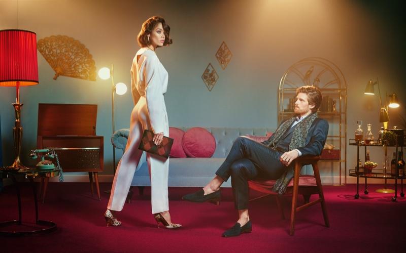 Michelle Dantas and Jake Dietrich star in Bruno Magli fall-winter 2019 campaign