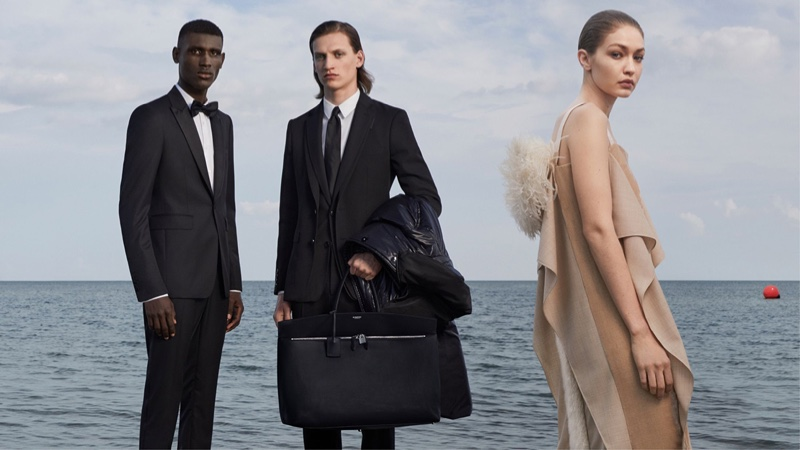 Gigi Hadid, Maxwell Annoh and Finn Rosseel appear in Burberry fall-winter 2019 campaign. Photo: Danko Steiner