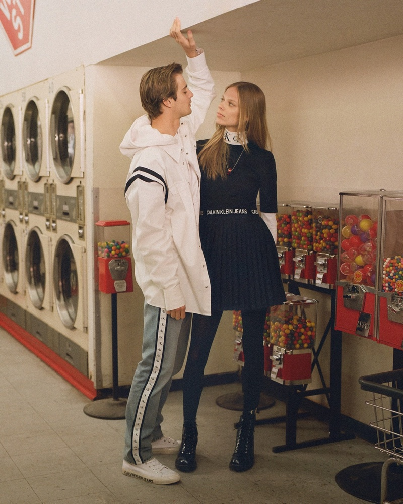 Lexi Boling and Ben Allen star in Calvin Klein Jeans fall-winter 2019 campaign
