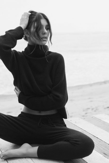 Camila Morrone Gets Cozy in Her Naked Cashmere Collaboration