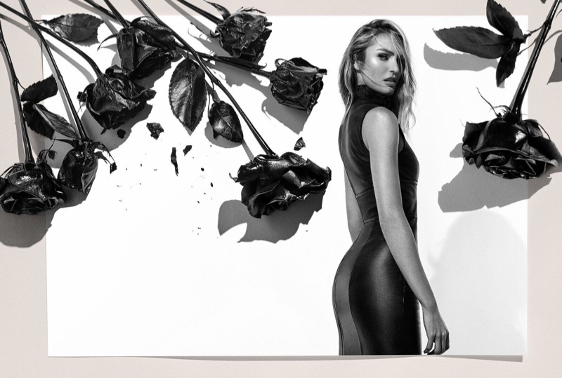 Wearing a body-con dress, Candice Swanepoel appears in Animale 2019 campaign