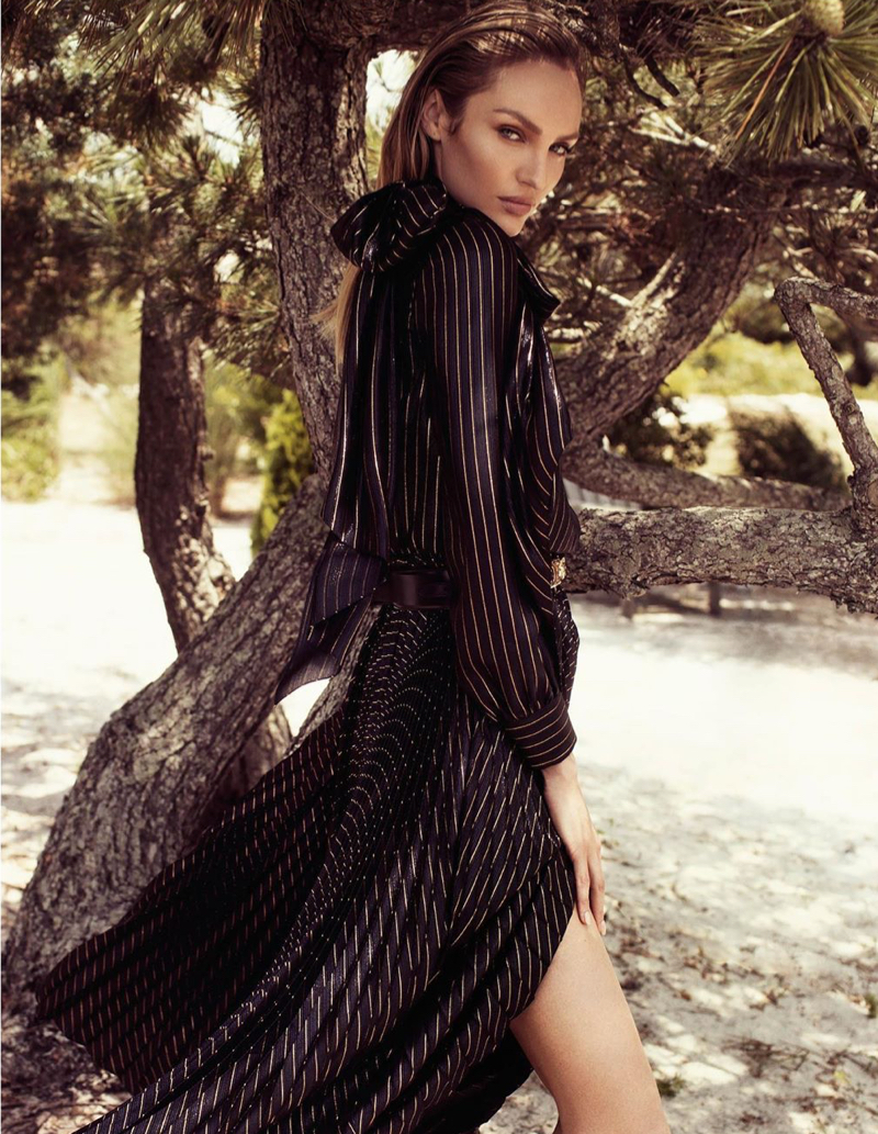 Candice Swanepoel Poses in Glam Dresses for Vogue Hong Kong