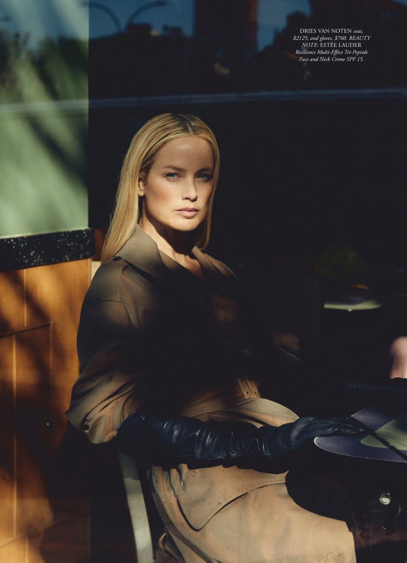 Carolyn Murphy Poses in Layered Looks for Harper's Bazaar Australia