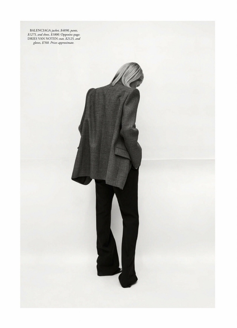 Carolyn Murphy Poses in Layered Looks for Harper's Bazaar Australia