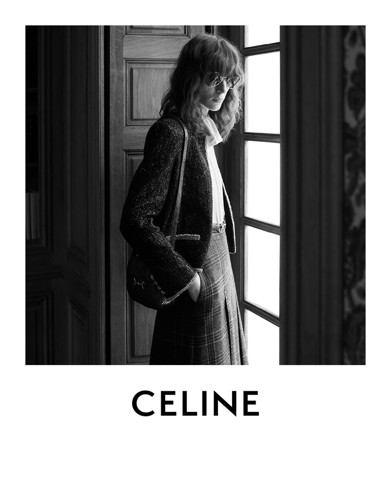 Model Karo Laczkowska appears in Celine winter 2019 campaign