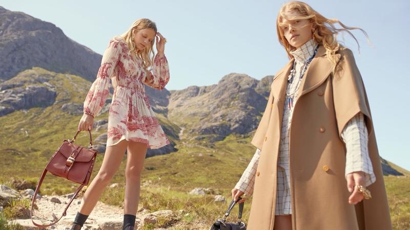 Eliza Kallmann and Kat Carter front Chloe fall-winter 2019 campaign
