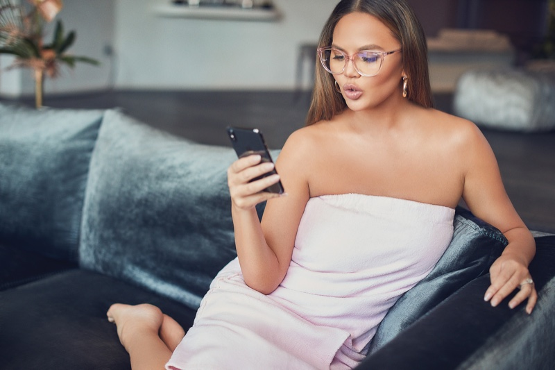 Chrissy Teigen teams up with Quay Australia on All Nighter glasses