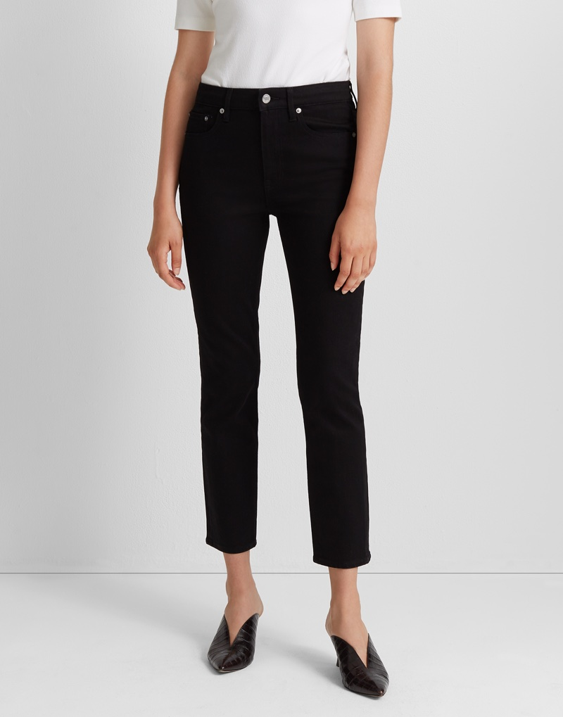 Club Monaco The High-Rise Skinny Jean in Black $129.50