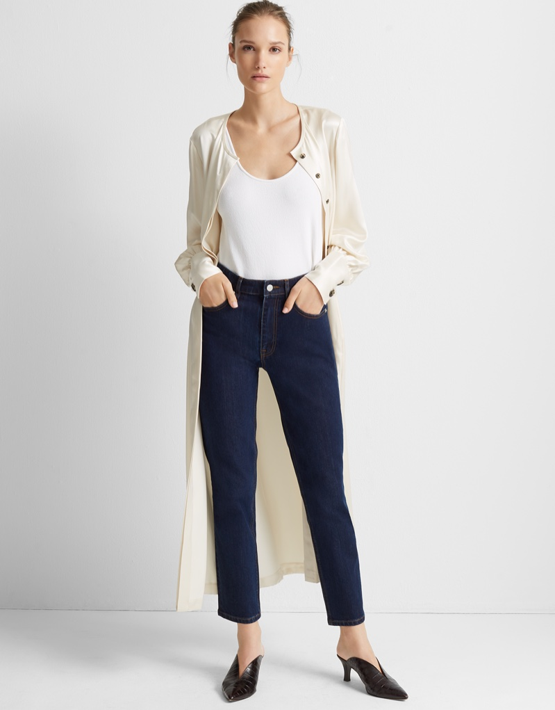 Club Monaco The High-Rise Skinny Jean in Blue $129.50