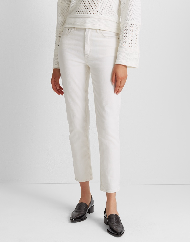 Club Monaco The High-Rise Skinny Jean in Milk $129.50