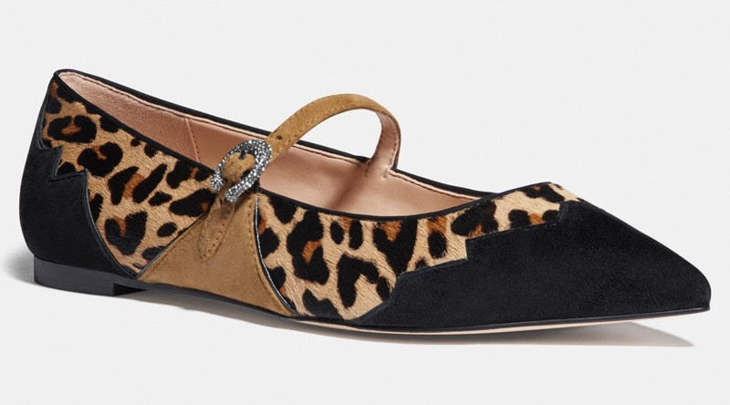 Coach x Tabitha Simmons Harriette Flat in Animal Print $165