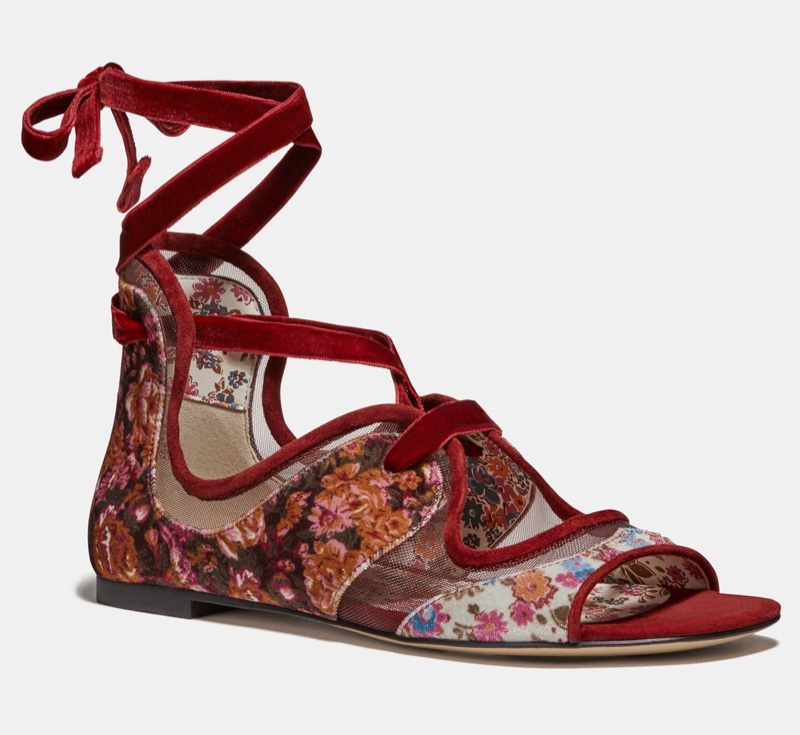 Coach x Tabitha Simmons Liza Sandal in Cranberry $150