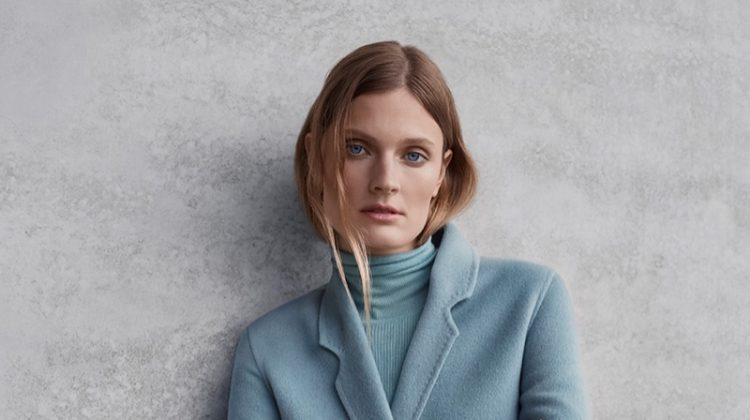 Constance Jablonski wears outerwear in Ellassay fall-winter 2019 campaign