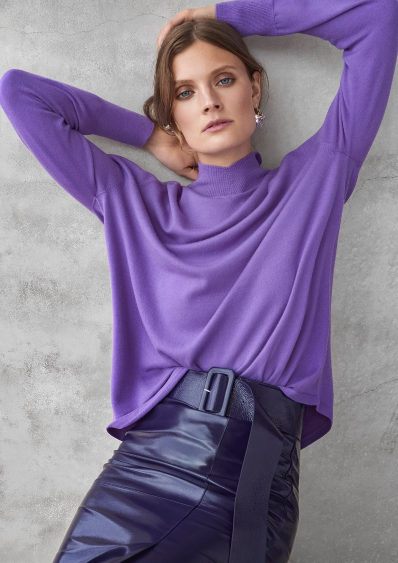 Model Constance Jablonski is the face of Ellassay fall-winter 2019 campaign
