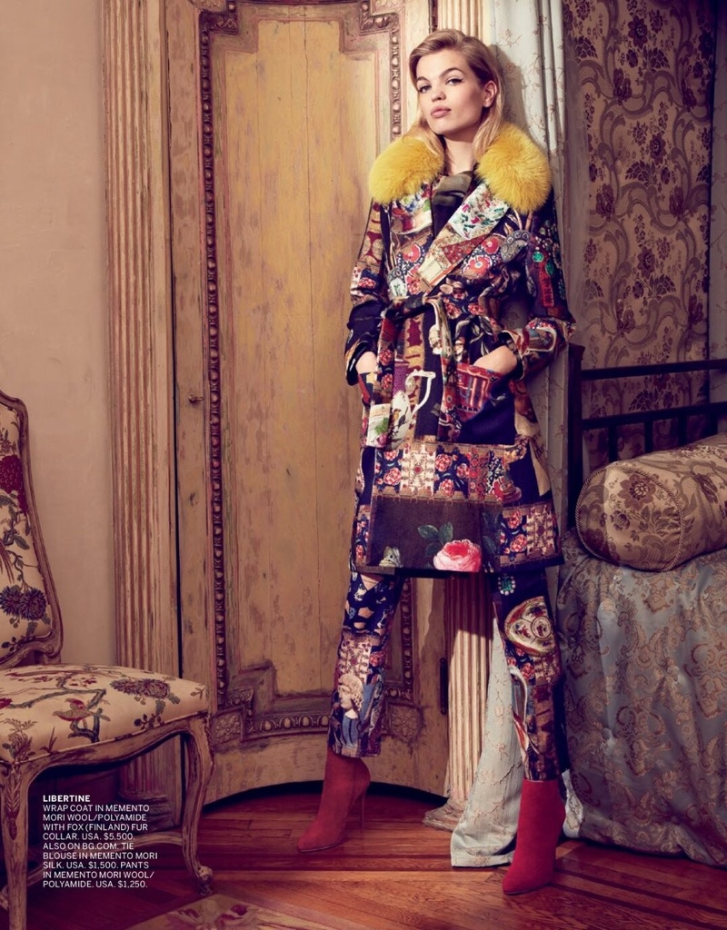 Daphne Groeneveld Embraces Autumn Style in Bergdorf Goodman
