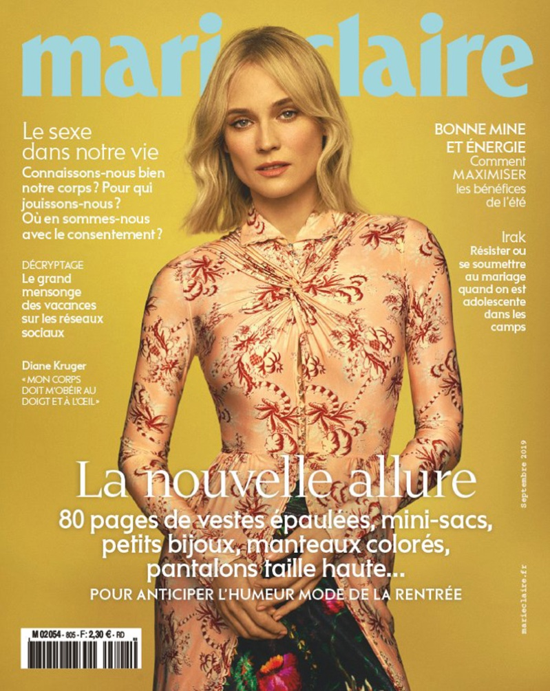 Diane Kruger on Marie Claire France August 2019 Cover