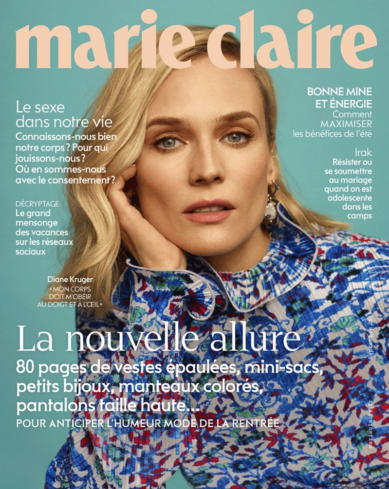 Actress Diane Kruger on Marie Claire France August 2019 Cover